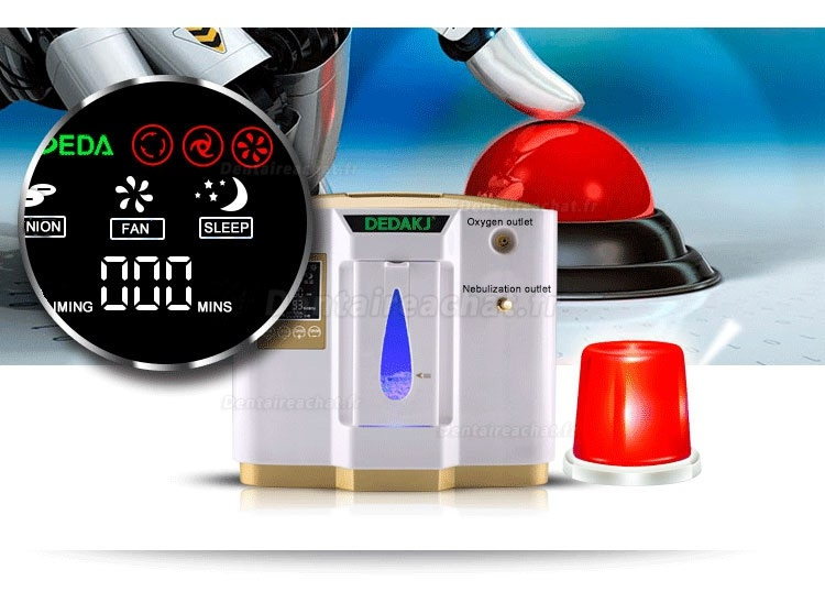 Hot High End Lightweight Oxygen Concentrator Generator Machinie With Nebulization 1L-6L Adjustable