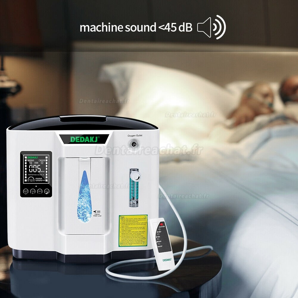 DEDA Portable Medical Home Use Oxygen Concentrator Generator Machine 1-6L/min 110V